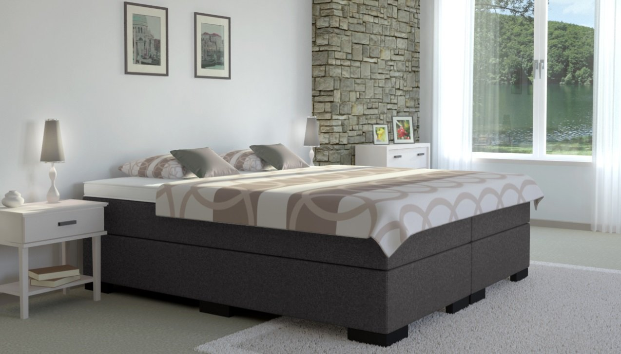 boxspringbett ohne kopfteil test vergleich top 10 im. Black Bedroom Furniture Sets. Home Design Ideas