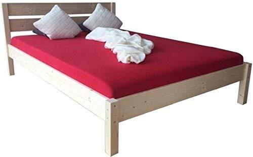 LIEGEWERK Massivholzbett Bett mit hohem Kopfteil Holz