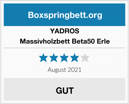 YADROS Massivholzbett Beta50 Erle Test