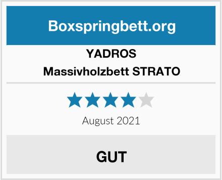 YADROS Massivholzbett STRATO Test