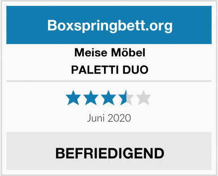 Meise Möbel PALETTI DUO Test