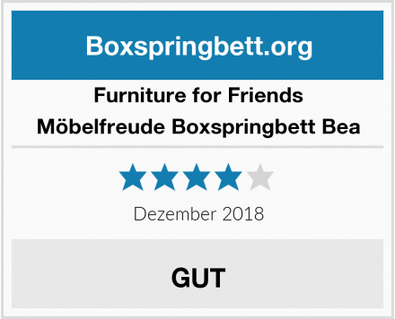 Furniture for Friends Möbelfreude Boxspringbett Bea Test