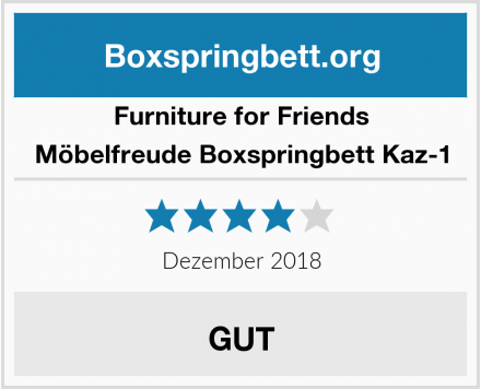 Furniture for Friends Möbelfreude Boxspringbett Kaz-1 Test