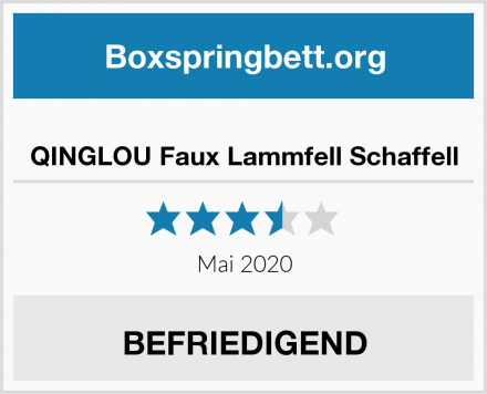 QINGLOU Faux Lammfell Schaffell Test