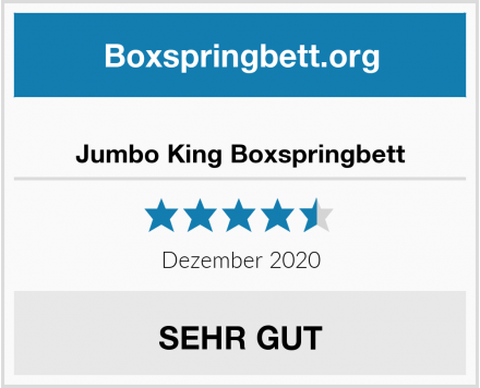 Jumbo King Boxspringbett Test