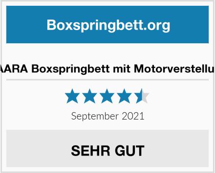 PAARA Boxspringbett mit Motorverstellung Test