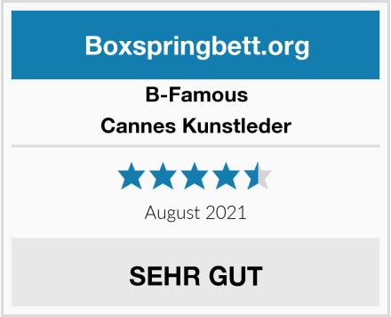B-Famous Cannes Kunstleder Test